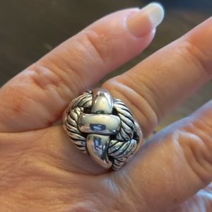 Silver 925 Dome Ring Size 6.5